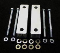 "E chassis Front Frame Spacers, 1.5"" Aluminum with bolts"
