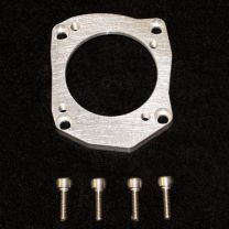 Honda K series Cable Drive throttle body on to Q45 Plenum adapter flange.