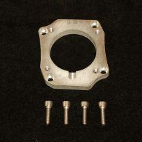 Honda K series Drive By Wire throttle body (74mm) onto Q45 Plenum adapter flange.